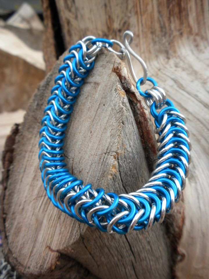 Blue and Silver Box Chain